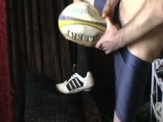 pumping my fleshlight in rugby ball