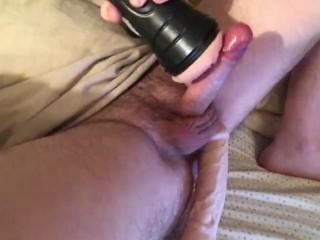Using my Pink Fleshlight! Humping and pumping