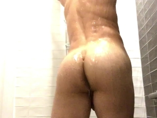 PERFECT ASS Sexy GOD Shows off Booty in Shower