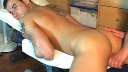 Fabio: Hetero guy's hard dick to wank in spite of him.