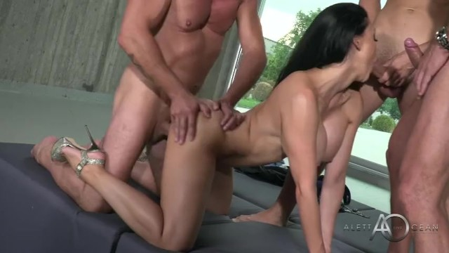 Sex Slave In A Cage Gets Hardcore DP Gangbang