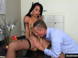 Mom loves anal tube