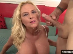 Mature Blonde Sara Skippers Loves to Suck Cock and Take It Up Her Pussy