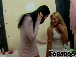 Stunning Lesbians Exploring Their Sensual Bodies!