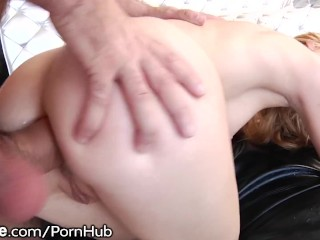 Arya Fae gets Drilled and Jizzed in her Gaping Asshole