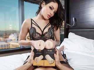 Kissa and Johnny Sins Blowjob and Handjob using Pornhub Toys Strokers