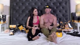 Kissa and Johnny Sins talk and unbox Pornhub sex toys!