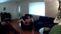 Boytoy Slut shows off to the home security cam
