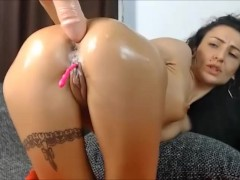 9 Nov 2017 - Doggystyle position with a huge dildo inside my asshole