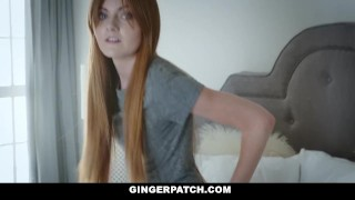 GingerPatch - Firecrotch Cutie Sucks Stepdads Cock For Cash Hand abella