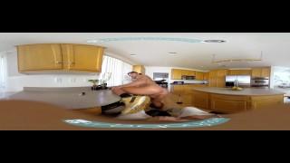Gay VR PORN - Ebony twink Micha stroking his big black cock Lean ripped