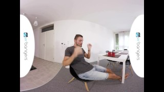 Gay VR PORN - Morning masurbation with sexy twink Jeffrey