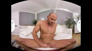 Gay VR PORN - Bald sexy Thomas Masturbates in the shower Big moaning