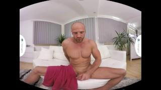 Gay VR PORN - Bald sexy Thomas Masturbates in the shower