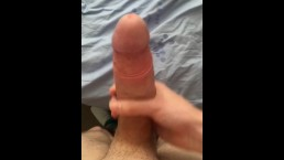 7 Inch Cock Sprays Huge Load On Bed