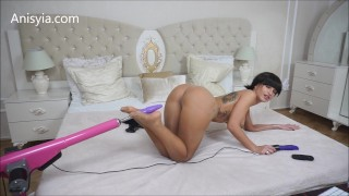 Anisyia Livejasmin stockings and oil overload ANAL fucking machines feet