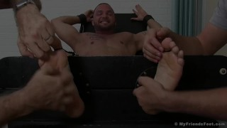 Julian Knowles is restrained and tickled by two kinky studs Asian natural