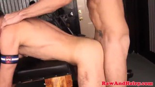 Hole creamed bare in roughly wolf fucked trio tattoo masturbation