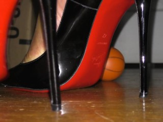 A Man in Heels - Dominating a Basketball Planet in Louboutin So Kates