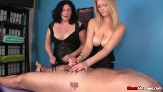 Tag-team domination massage porno