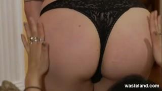 Teen eaten pretty femdom submissive by blonde boobs femdom