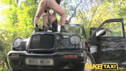 Fake Taxi Bisexual blondes hot revenge fuck on taxi bonnet