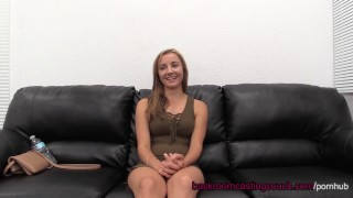 Amateur Amber Assfuck & Anal Creampie on Casting Couch Point step