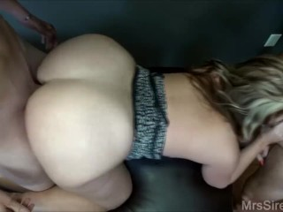 Wife Fucked Down by Two Guys