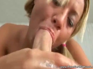 Very Rough Blowjob for Blonde Girl