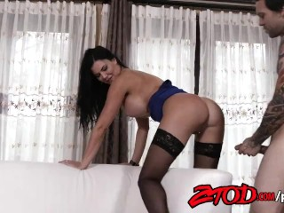 Brunette Jasmin Jae Gets Fucked on Couch