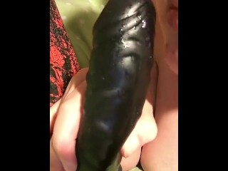 Teasing and Fucking Myself on Snapchat with a Big Black Dildo