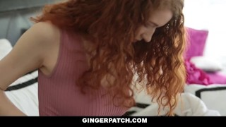 GingerPatch - Skinny Redhead Gets Fucked While Playing Bang bus