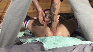 Double anal fisting LIly Skye