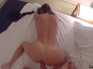 Extra small girl suck and ride my big dick good