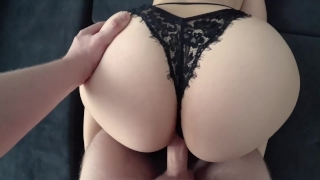 Young with big ass in black panties fucked Big young