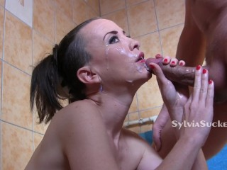 Sylvia Chrystall 4K Cumface High School BJ for PH Puppies & Porn Veterans