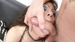Big titty Shemale sucks a big Dick