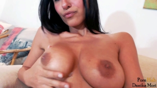 Orgasmic hot brunette fuck her holes and make big squirt orgasm!