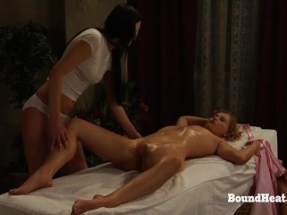 The Submission of Sophie: Lesbian Massage Before Ass Whipping