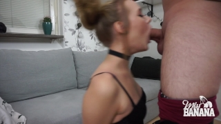 Fuck my face! - Miss Banana Sucking big