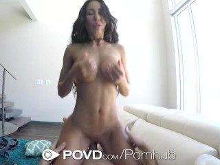 POVD Big booty bouncing on big cock in POV with Amia Miley