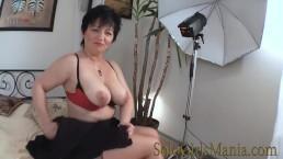 horny brunette granny big tits masturbating hairy pussy