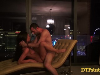 Slutty Teen Latina Cameron Canela Public Sex Outdoors On Balcony Big Cock