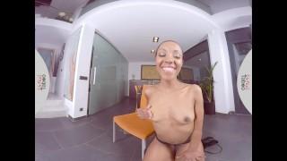 VIRTUAL TABOO - Hot Ebony Girl Fucks Her Sweet Pussy With Dildo