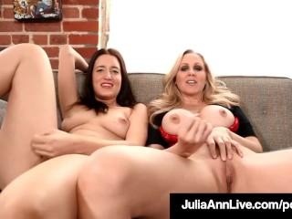 Femdom Milf Julia Ann & Kimberly Kane Make You Submit Sissy!
