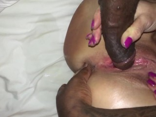 White wife cheating in hotel with black coworker