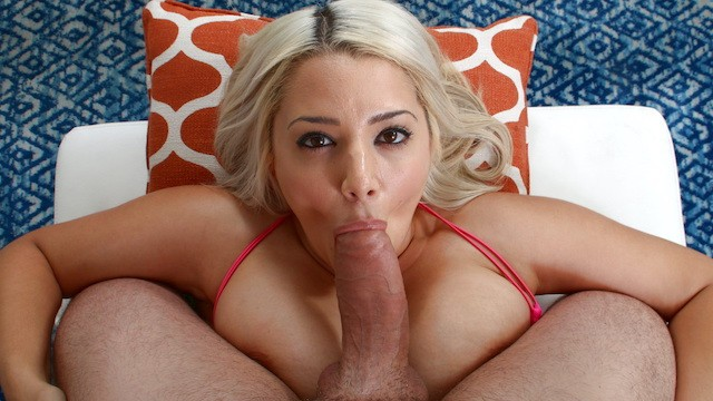 Hot Latina Alix Lovell With Big Natural Tits Gets Her Face Covered In Cum!