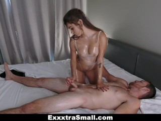 Preview 5 of ExxxtraSmall - Petite and Tight Hottie Fucked In The Dark