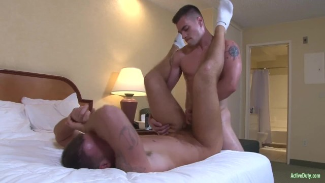 Gay activity Muscular recruits bareback drilling on active duty
