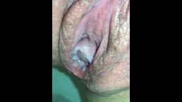 HD Extreme Closeup Cum Dripping From Pixxxie's Swollen Pussy Hole